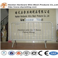 Hot Dipped Galvanized Temporary Fence Welded Pipe Crowd Control Barrier Queue Control Fence Panel