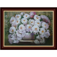 hand painted flower oil painting