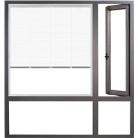 55mm thermal break aluminium alloy casement window made in China