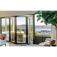 75mm heavy duty thermal break aluminium folding door with accessary