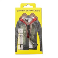 newest fashion 3.5mm plug metal zipper earphone