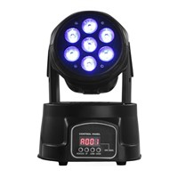 Hot Sale 7pcs*12W 4in1 RGBW Mini LED Moving Head Wash Light With LCD Display,DJ Event Light