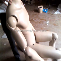 Movable mannequin, joints canbe movable fiberglass mannequin