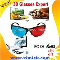 2015 Red Blue Cyan 3D glasses hot gift  for 3D movies
