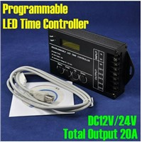 DC12V-24V 5 Channels 20A Programmable Time LED RGB/Single Color Strip Controller TC420