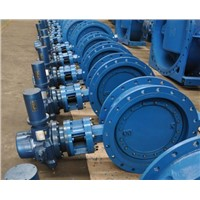 butterfly valve flange wafer gearbox
