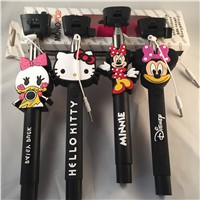 Cable Controlled Cartoon monopod for mobile phone