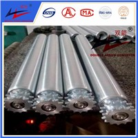 Conveyor Gravity Roller Stainless Steel Double Sprocket Roller