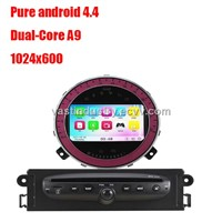 Android4.4 car dvd gps with 1024 x 600 resolution for bmw mini copper with mirror link DVR