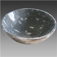 Fossil Marble Round Sink