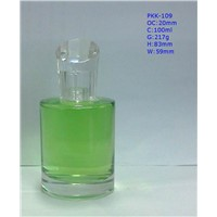 100ml Glass Perfume Bottle with Crystal Designed Cap For Sale