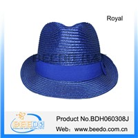 Summer pp straw fedora hat for promotion