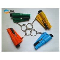 Hot new product for 2015 Lifeguard Auto Rescue Tool Keychain Safety Belt Cutter Emergency Hammer
