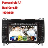 Android4.4 in dash car gps navigation with 1024 * 600 resolution for Benz W169 W245 W639