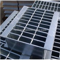hot dip galvanized steel grating/steel serrated grating(Factory)