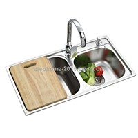 Latest Hot Sell double bowls Stainless Steel kichen Sink(Model No.: 7842B)