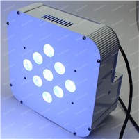 Battery LED PAR Light  9*10W 4N1 RGBW/RGBA Battery Power and Wireless LED Flat Par Can