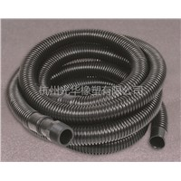 Black flexible water outlet hose for water pump