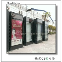 LED Rotating Letters on Top Advertising Scrolling City Light Box