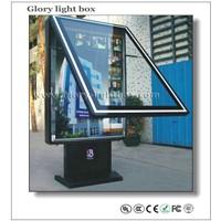 Vertical Roll up Poster Frame LED Light Box Advertising