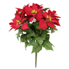 12 Heads Artificial Christmas Poinsettia Flower