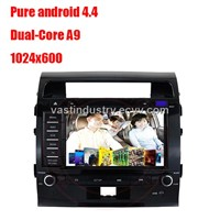 Android 4.4 car radio player for toyota Land Cruiser with mirror link capacitive screen 1024x600