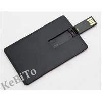 Black Plastic Business Card USB Flash Drive 4GB