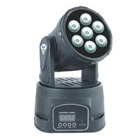 Mini LED Moving head wash Light 7x8W RGBW Quad Colors - P0708