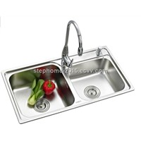 Popular Stainless Steel Sink with double bowls(Model no.: 8143BD)