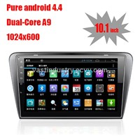 "10.1"" Android 4.4 car navigation for Skoda Octavia with 1024 * 600 resolution and DVR camera input"