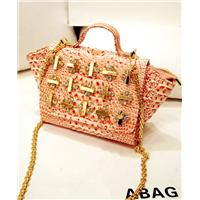china supplier ladies rhinestone pu leather desinger women fashion lady handbags wholesale