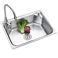Popular Single Bowl Stainless Steel Sink(Model no.:6045B)