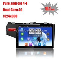 """10.1"""" Android 4.4 auto dvd navigation for Honda new fit  with 1024 * 600 resolution and DVR camera"""