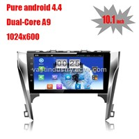 "10.1"" Android 4.4 car media player  for  toyota camry 2012 with 1024 * 600 resolution and DVR camera"