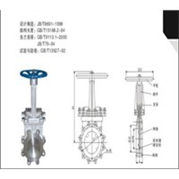PZ 73 Maunual Knife Gate Valve