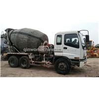 Concrete Isuzu  used concrete  mixer truck