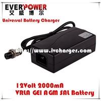 Desktop 12v 2a lead acid agm/gel/sla/vrla ac dc car battery charger