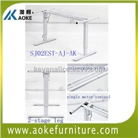 telescoping width single motor height adjustable office desks