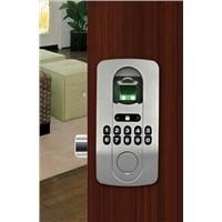 Biometric fingerprint door lock has no distinguish of right and left for wooden and metal doors