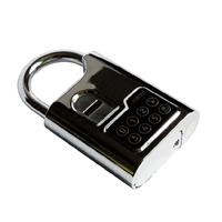 Fingerprint biometric padlock used in  apartment and condo; guests, renters, landlords