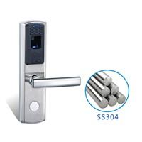 Remote control fingerprint door lock for wooden and metal door with low price