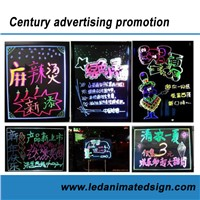 30x40cm LED Illuminated Chalkboard with Fluroescent Marker Pen