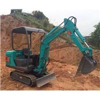 1500kg Capacity Mini Crawler Excavator
