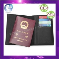 custom design leather passport cover and ticket bag