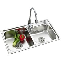Best Quality Stainless Steel Sink with Good design(Model No.: 7540B)