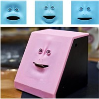 Interesting Human Face Plastic Coin Box Coin