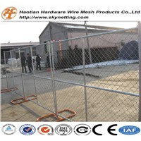 discount and hot sale pertable chain link temporary fence with hot dipped galvanized surface
