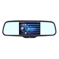 Car Rearview Mirror Monitor DVR 800*480 5 inch 16:9 screen DC 12V car Monitor for DVD Camera VCR