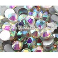 loose rhinestone glue on flat back crystal rhinestones beads for crafts ss30 crystal ab