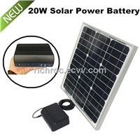 portable solar power generator battery energy generator with 20W solar panel